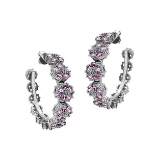 Blossom Gentile Medium Gemstone Hoops