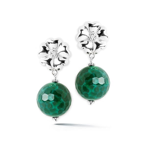Blossom jade earrings