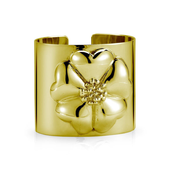 Blossom Large Cuff Bracelet bracelets KATHRYN New York Yellow Gold Vermeil One Size Fits All