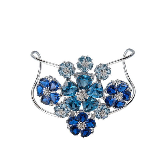 Blossom Renaissance Cuff bracelets KATHRYN New York One Size Fits All London Blue Topaz Silver