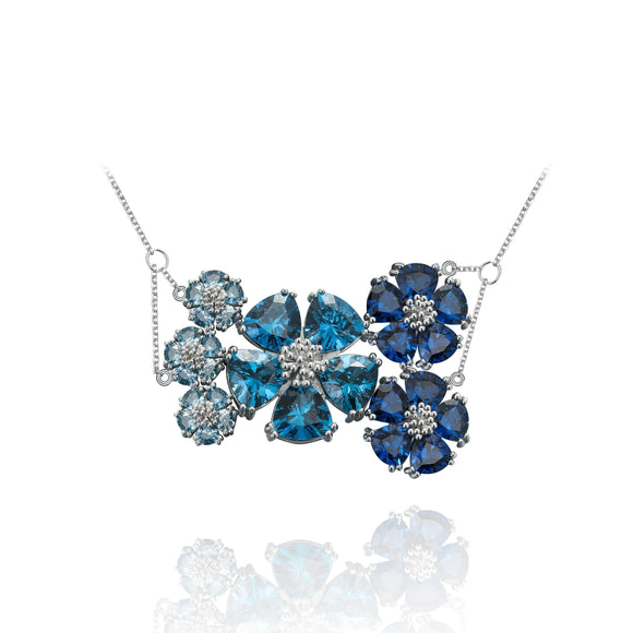 Blossom Renaissance Necklace necklaces KATHRYN New York One Size Fits All London Blue Topaz Silver