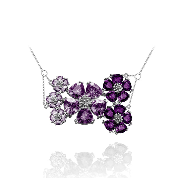 Blossom Renaissance Necklace necklaces KATHRYN New York One Size Fits All Amethyst Silver