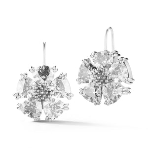 Blossom Stone Wire Drop Earrings earrings KATHRYN New York White Topaz Silver One Size Fits All