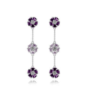 Blossom gentile alternating chandelier earrings