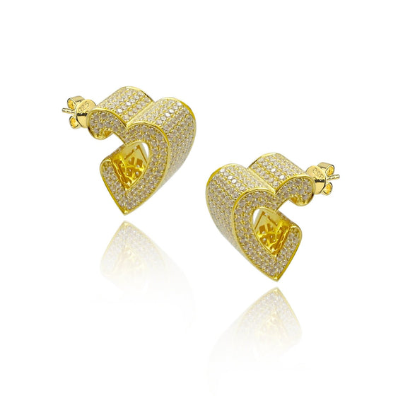 3D Heat Pave Earrings