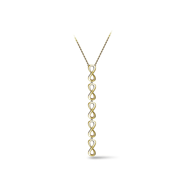 Infinity on Fire Lariat Necklace necklaces KATHRYN New York 16 inches Yellow Gold Vermeil