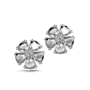 Blossom large flower stone stud earrings