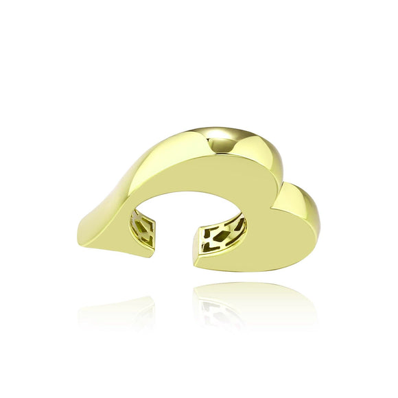 3D Heart Statement Ring