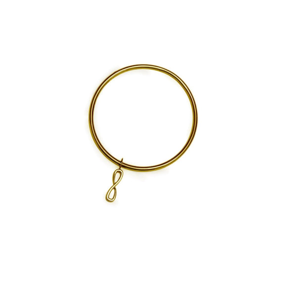 Infinity Dangle Bangle Bracelet bracelets KATHRYN New York Yellow Gold Vermeil
