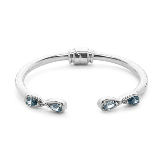 Infinity Stone Hinge Bracelet bracelets KATHRYN New York Light Blue Sapphire Silver Small/Medium
