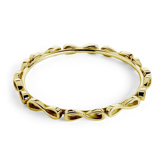 Infinity Wraparound Bangle Bracelet bracelets KATHRYN New York Yellow Gold Vermeil One Size Fits All