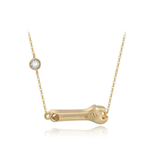 Wrench Bezel Necklace