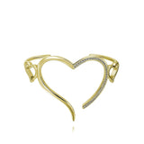 Open Heart Wire Cuff