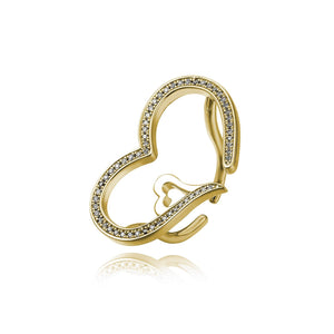 Open Heart Wire Ring