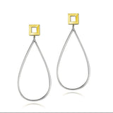 High Drama Square Oblong Earrings