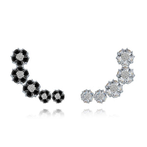 Tiered blossom earring climbers earrings KATHRYN New York
