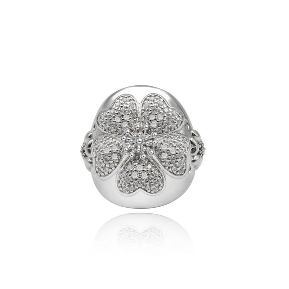Blossom Pave Dome Ring