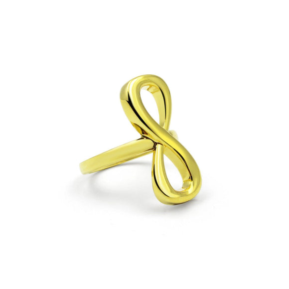 Large Infinity Ring rings KATHRYN New York 5 Yellow Gold Vermeil