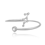 Leo Constellation Wire Bezel Cuff