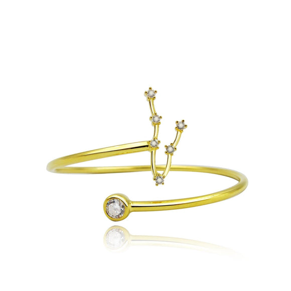 Pisces Constellation Wire Bezel Cuff