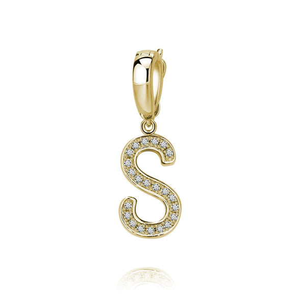 S Initial Pendant / Charm