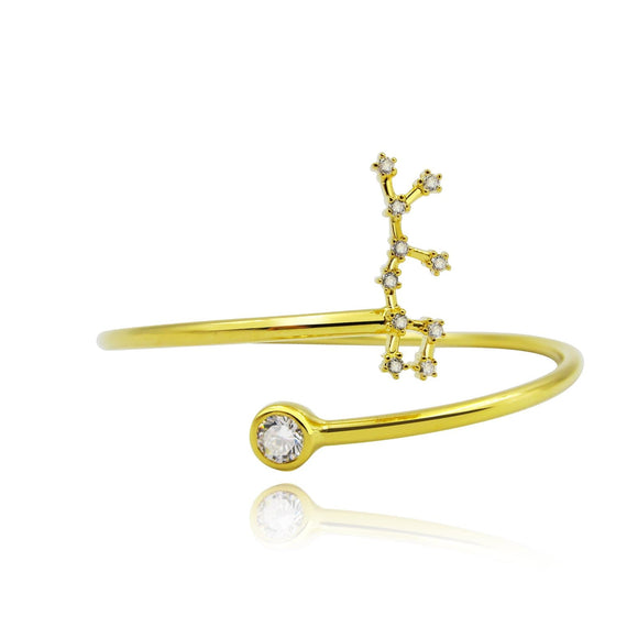 Sagittarius Constellation Wire Bezel Cuff