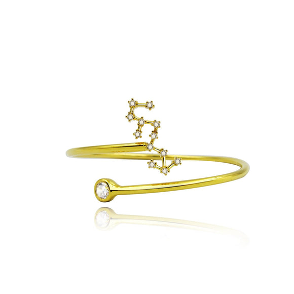 Scorpio Constellation Wire Bezel Cuff