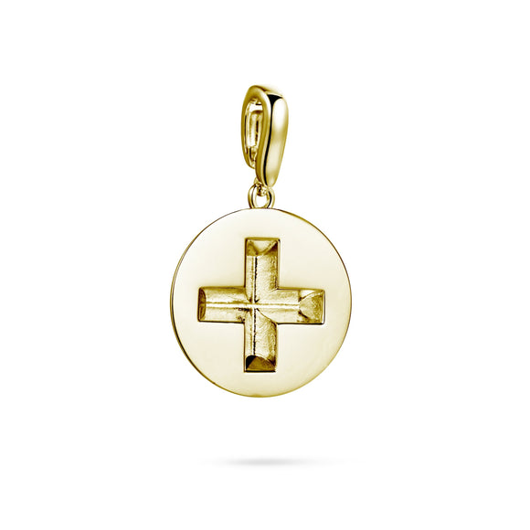 Screw detachable pendant charms/pendants KATHRYN New York Yellow Gold Vermeil One Size Fits All
