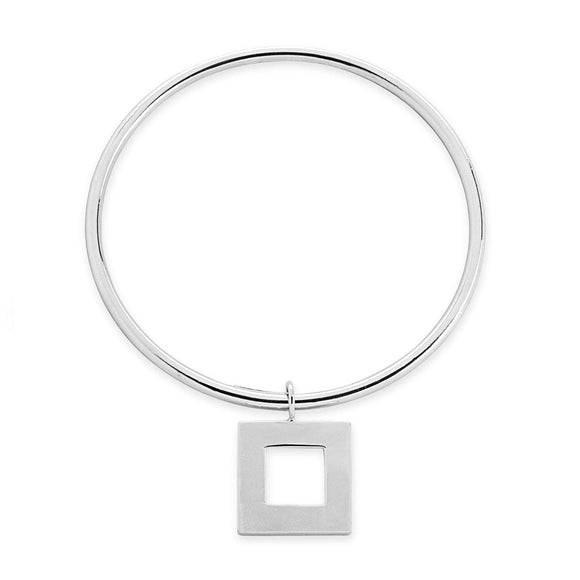 Square dangle bangle bracelets KATHRYN New York Sterling Silver One Size Fits All