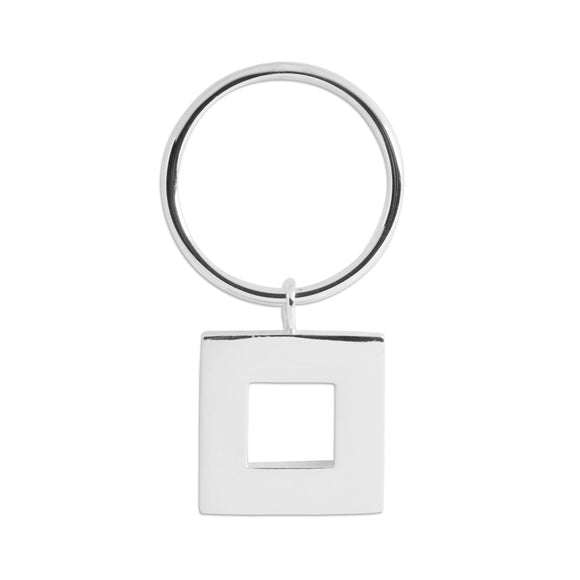 Square dangle ring rings KATHRYN New York Sterling Silver Size 6