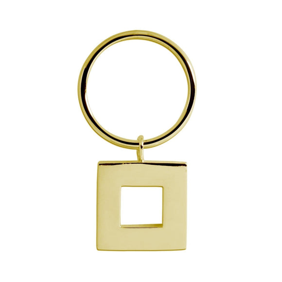 Square dangle ring rings KATHRYN New York Yellow Gold Vermeil Size 6
