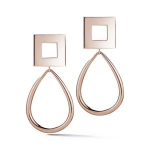 Square Oblong Hoop Earrings