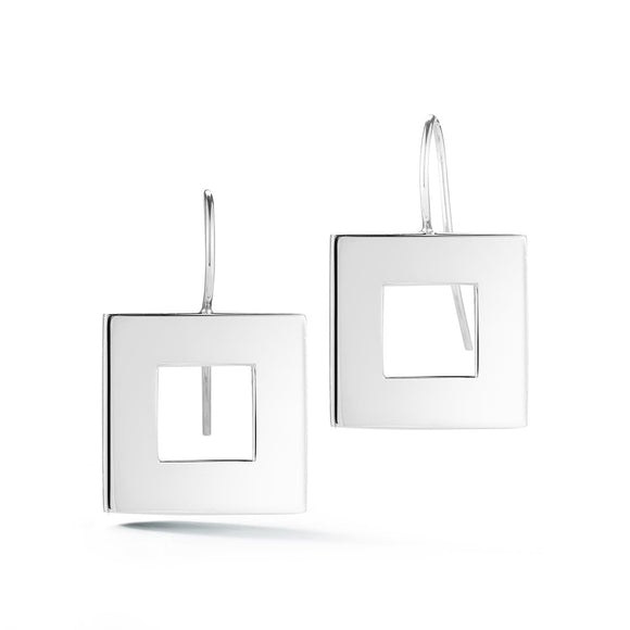 Square wire hook earrings earrings KATHRYN New York Sterling Silver One Size Fits All