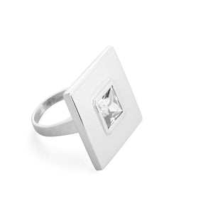Square Large Stone Statement Ring