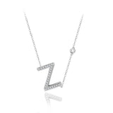 Z Initial Bezel Chain Necklace