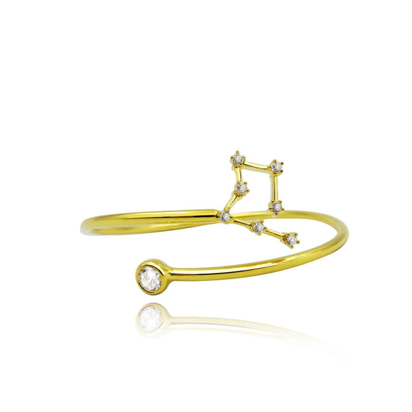 Cancer Constellation Wire Bezel Cuff