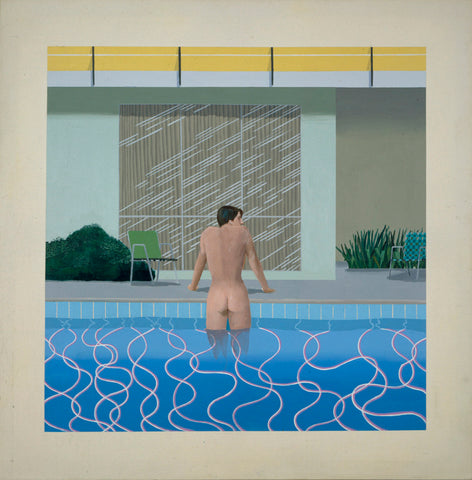 Peter Getting Out of Nick's Pool, 1966  © David Hockney. Photo: Richard Schmidt