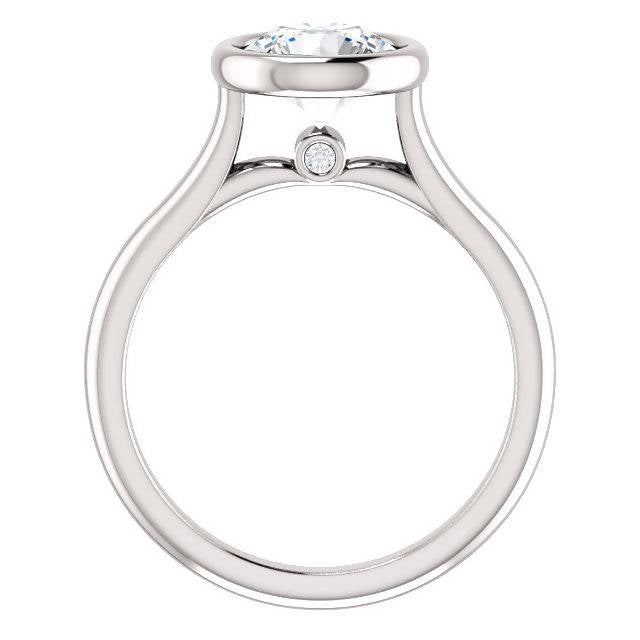Round Engagement Ring Set