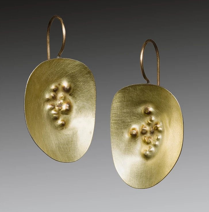 Yellow Gold Dimple Earrings