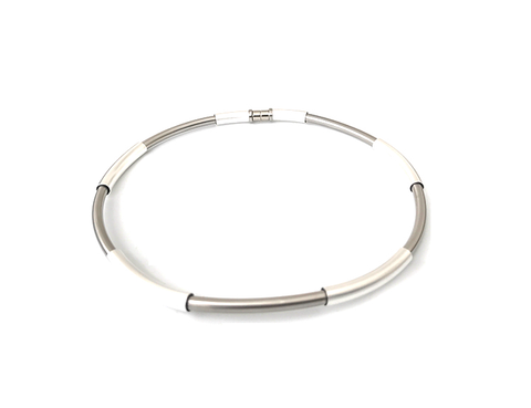 Sterling Silver Liquid Gold Open Cuff Necklace