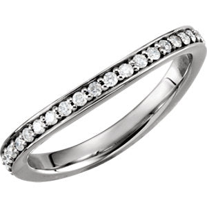 122251 / 14K White / Band / Set / 5.5 / 1/3Ctw Diamond Stackable Band