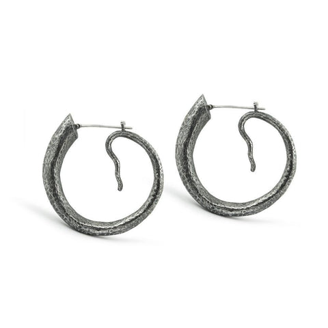 Tread Hoop Earrings small