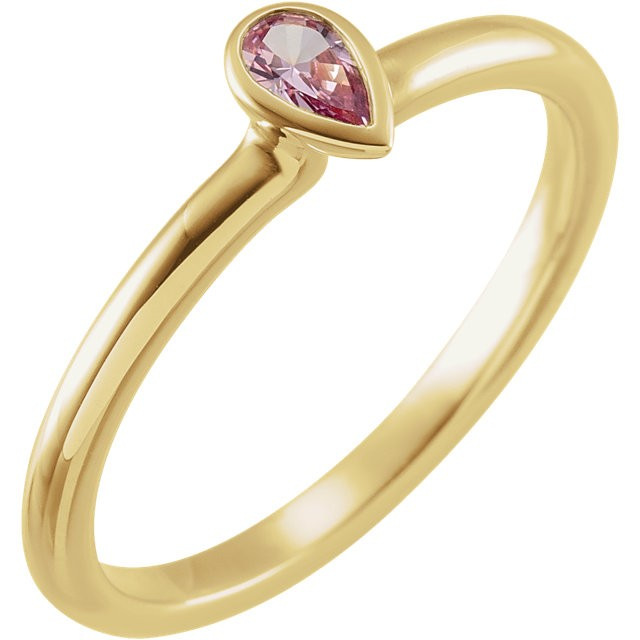 Amethyst ring gold - 14K Yellow Amethyst Stackable Ring
