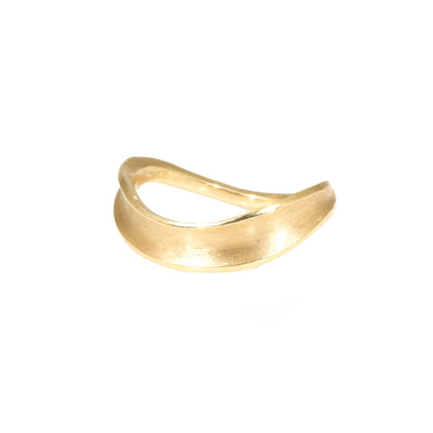 Siver Shimmer Wavy Wedding Band in 14k Gold