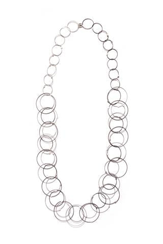 Interlock Circles Necklace by Meghan Patrice Riley