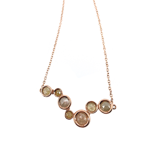 Joyful Circle Diamond Necklace