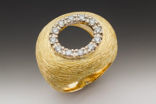 """Great dish"" Ring in 18k Yellow Gold and Diamonds - Lireille"
