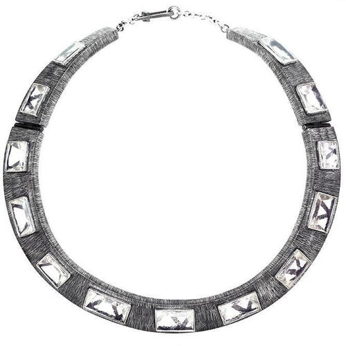 Infinity Crystal Collar Necklace