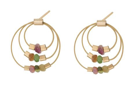 14k Gold Geometric Earrings