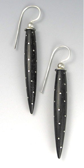 Inlaid Ebony Earrings
